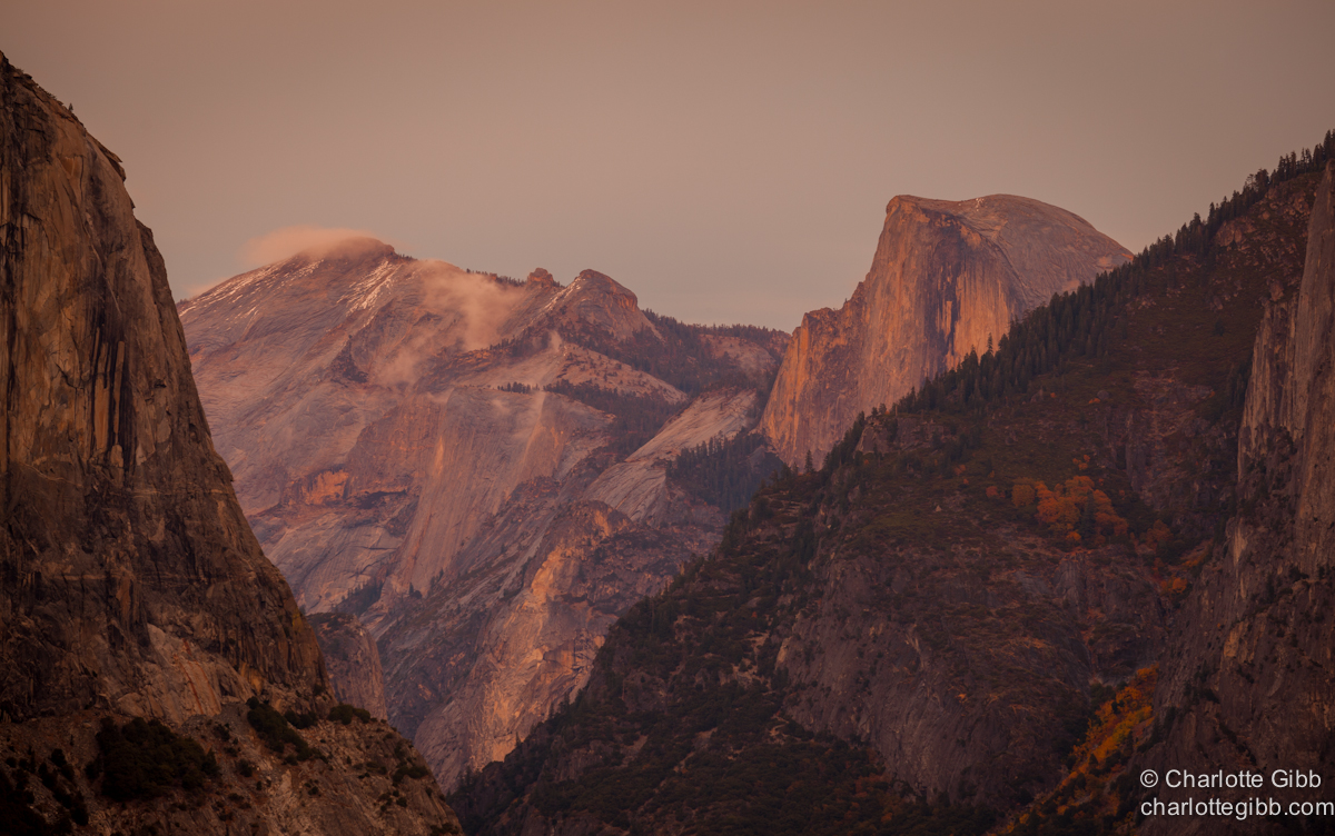 Half Dome Fall Sunset copy