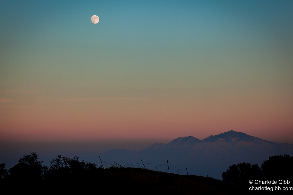 Moonrise Over Mt. Diablo