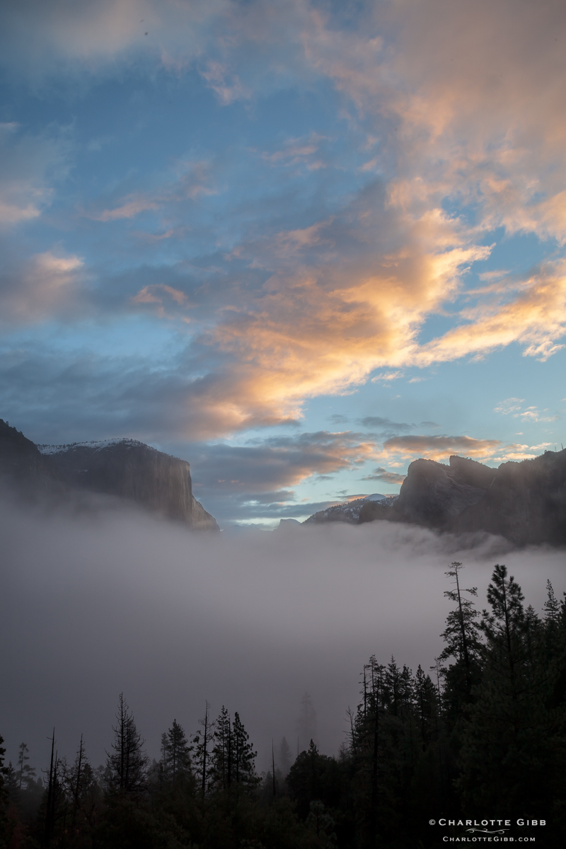 Sunrise Yosemite Tunnel View, February 2014